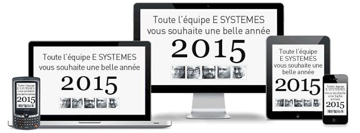 Quelle que soit votre résolution... Toute l'équipe E SYSTEMES vous souhaite une bonne année 2015 !
