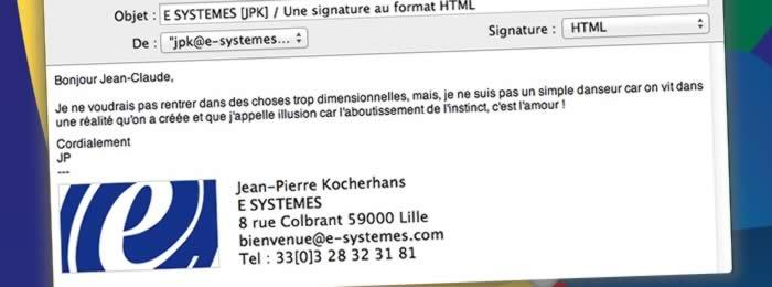 Une signature pour Mail au format HTML