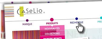 Création du site web papiers peints et tissus pour la décoration de Caselio