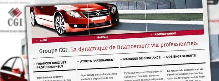 Création du site web de la banque CGI