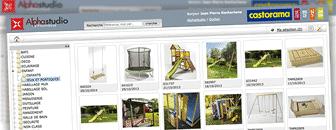 La gestion de la banque image de Castorama avec l'application en ligne Alpha Studio