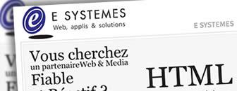 Nouveau site web E SYSTEMES en V5
