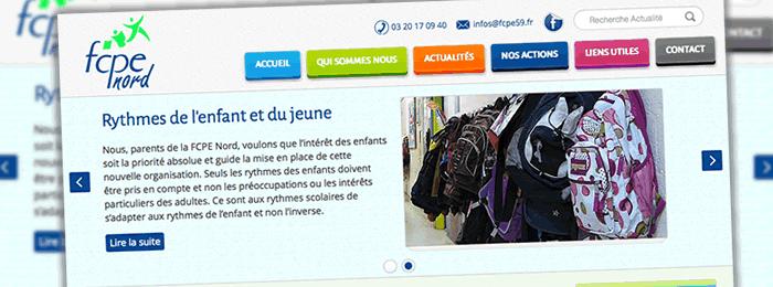 Le nouveau site web de la fédération des parents d'élèves du nord