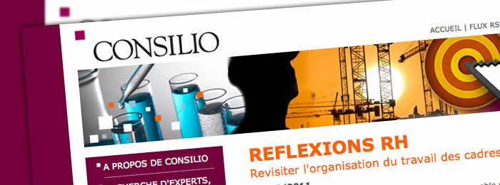 Création et développement du site web Consilio RH avec Nikita