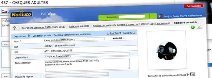 Une application Full Web pour la gestion du flux texte des éditions Norauto