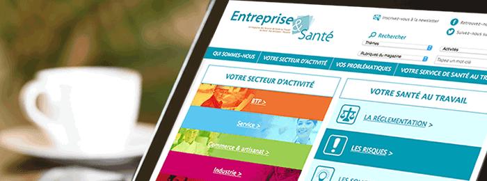 Refonte du site web Entreprise et santé avec Altitude GDS Group