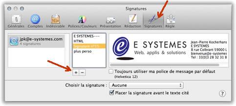 Une signature html pour mail sur mac os x for Idee de site internet