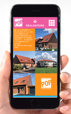 POP Immobilier, site web mobile