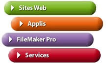 Web, Applications, FileMaker et services