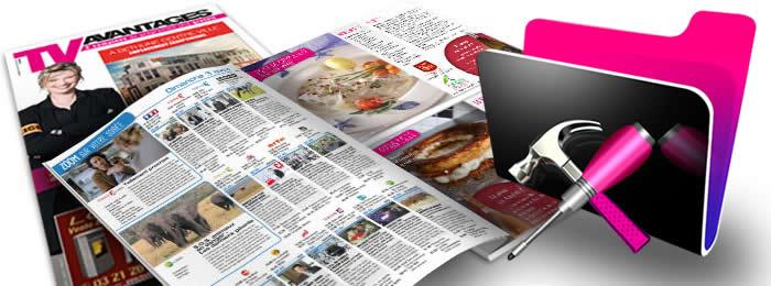 Développement FileMaker : l'application des gestion des parutions du magazine TV Avantages