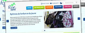Le site web de la fédération des parents d'élèves du nord