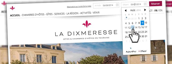 Site web réservation chambre d'hôtes