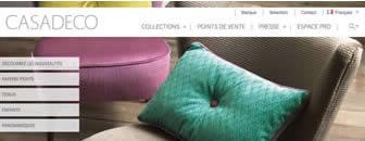 Développement web du site CASADECO pour Texdecor