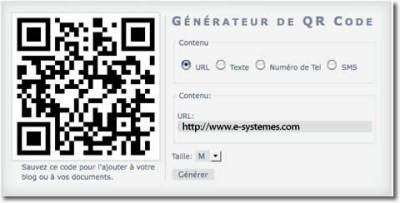 Un generateur de code QR en ligne