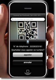 Scan d'un code QR sur iPhone
